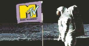 MTV flag Man on the Moon