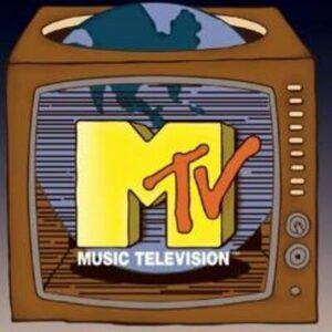 MTV logo on TV set